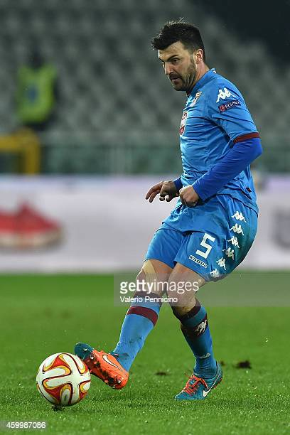 Cesare Bovo of Torino FC in action during the UEFA Europa League group B match between Torino FC and Club Brugge KV on November 27 2014 in Turin Italy