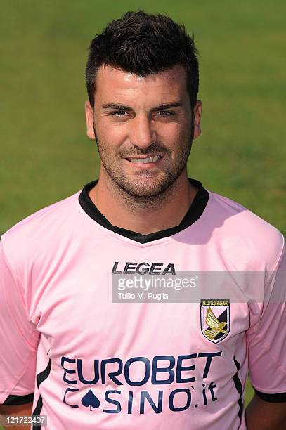 Cesare Bovo of US Citta di Palermo poses during a portrait session for the team's official headshots at Tenente Carmelo Onorato Sports Center on...