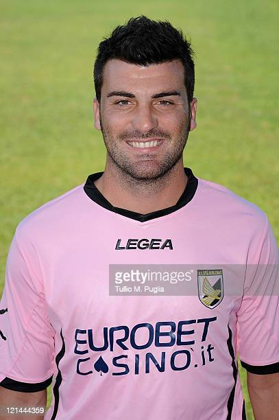 Cesare Bovo poses for the US Citta di Palermo official headshot at Tenente Carmelo Onorato Sports Center on August 19 2011 in Palermo Italy
