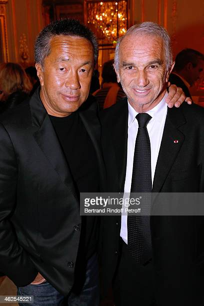 Cesar's producer Renaud Le Van Kim and President of the 'Cesar' the French Academy awards Alain Terzian at the Chaumet's Cocktail Party for Cesar's...
