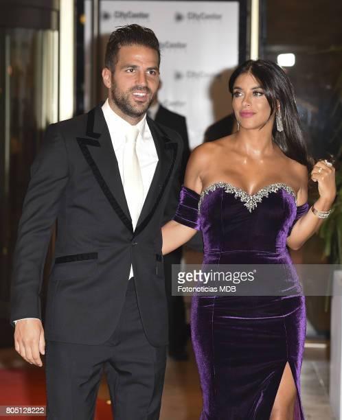 Cesc Fabregas and Daniella Semaan attend Lionel Messi and Antonela Rocccuzzo's wedding at the City Center Rosario Hotel Casino on June 30 2017 in...