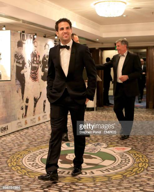 Cesc Fabregas arrives at the PFA Player of the Year Awards 2015 at the Grosvenor House Hotel London