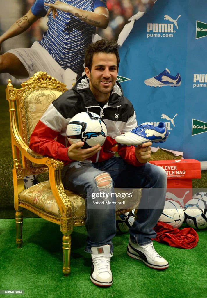 Cesc Fabregas attends a press presentation of the new Puma PowerCat 1.12 shoe at the Corte Ingles store on December 23, 2011 in Barcelona, Spain.