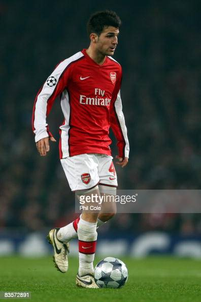 Cesc Fabregas of Arsenal in action during the UEFA Champions League Group G match between Arsenal and Fenerbahce at the Emirates Stadium on November...
