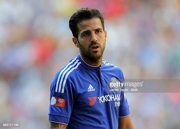 Cesc Fabregas of Chelsea during the FA Community Shield match between Chelsea and Arsenal at Wembley Stadium on August 2 2015 in London England