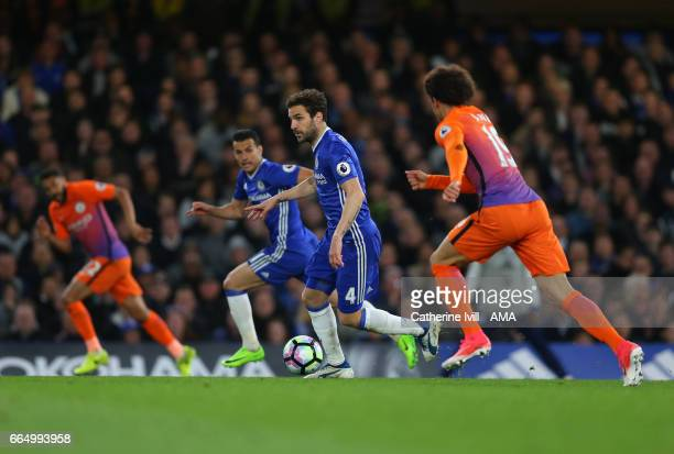 Cesc Fabregas of Chelsea during the Premier League match between Chelsea and Manchester City at Stamford Bridge on April 5 2017 in London England