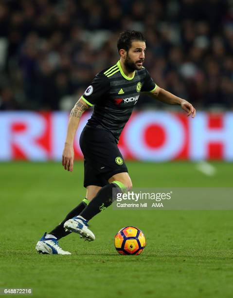 Cesc Fabregas of Chelsea during the Premier League match between West Ham United and Chelsea at London Stadium on March 6 2017 in Stratford England