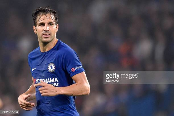 Cesc Fabregas of Chelsea during the UEFA Champions League match between Chelsea v AS Roma at Stamford Bridge Stadium London United Kingdom on 18...
