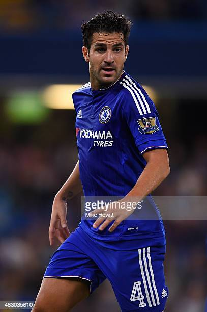 Cesc Fabregas of Chelsea in action during a Pre Season Friendly between Chelsea and Fiorentina at Stamford Bridge on August 5 2015 in London England