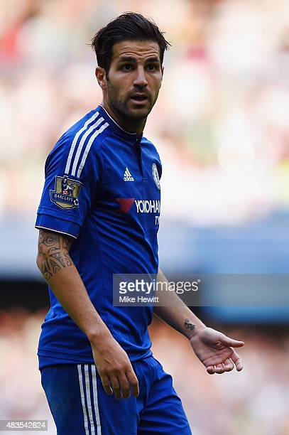 Cesc Fabregas of Chelsea in action during the Barclays Premier League match between Chelsea v Swansea City at Stamford Bridge on August 8 2015 in...