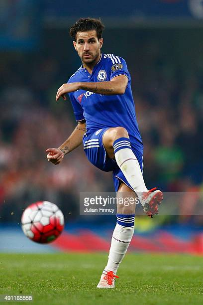 Cesc Fabregas of Chelsea in action during the Barclays Premier League match between Chelsea and Southampton at Stamford Bridge on October 3 2015 in...