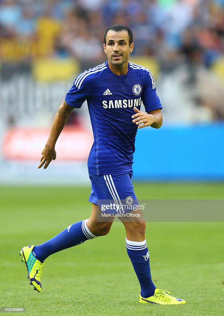 Cesc Fabregas of Chelsea in action during the pre season friendly match between Vitesse Arnhem and Chelsea at the Gelredome Stadium on July 30, 2014 in Arnhem, Netherlands.