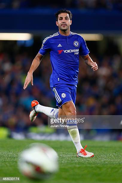 Cesc Fabregas of Chelsea in action during the Pre Season Friendly match between Chelsea and Fiorentina at Stamford Bridge on August 5 2015 in London...