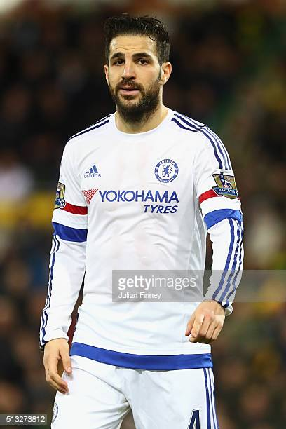 Cesc Fabregas of Chelsea looks on during the Barclays Premier League match between Norwich City and Chelsea at Carrow Road on March 1 2016 in Norwich...