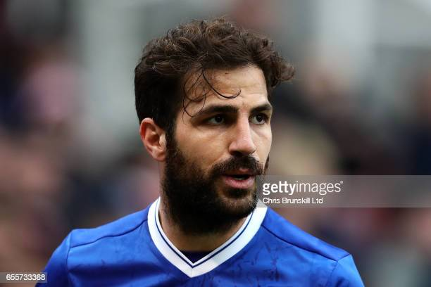 Cesc Fabregas of Chelsea looks on during the Premier League match between Stoke City and Chelsea at Bet365 Stadium on March 18 2017 in Stoke on Trent...