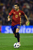 Cesc Fabregas of Spain in action during an International Friendly between Spain and England at the Estadio José Rico Pérez on November 13 2015 in...