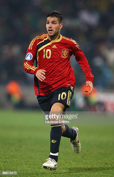 Cesc Fabregas of Spain in action during the FIFA Confederations Cup match between Spain and South Africa at Free State Stadium on June 20 2009 in...