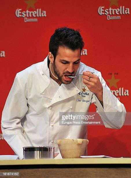 Cesc Fabregas presents 'Estrella Damm' commercial on February 13 2013 in Barcelona Spain