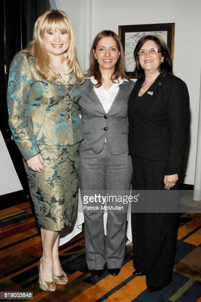 Ceslie Armstrong Gila GamlielDemri and Phyllis Heideman attend MOMENTUM WOMEN Honor Gila GamlielDemri hosted by Ceslie Armstrong Phyllis Heideman...