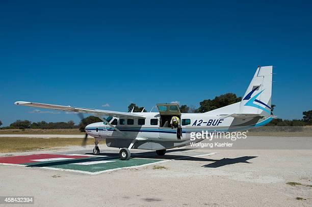 Cessna 208 Caravan at the landing strip of Vumbura Plains in northern part of Botswana