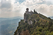 Castello della Cesta or Cesta tower, one of three fortress of San Marino.