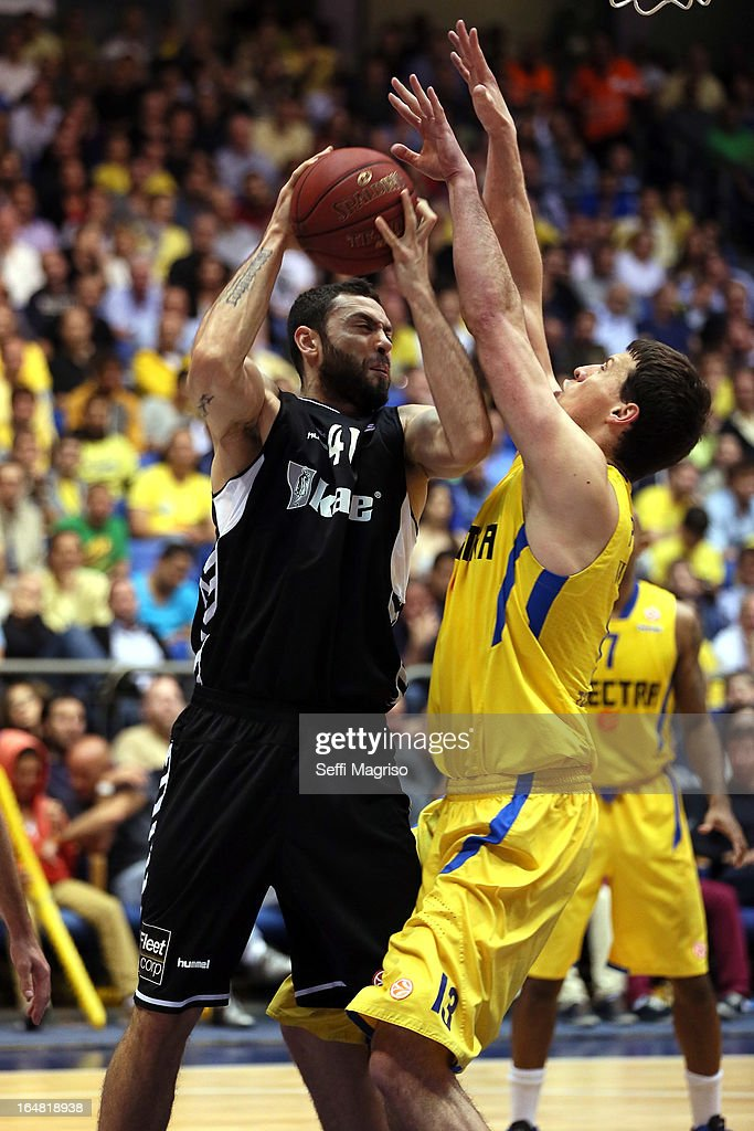 Cevher Ozer, #41 of Besiktas JK Istanbu in action during the 2012-2013 Turkish Airlines Euroleague Top 16 Date 13 between Maccabi Electra Tel Aviv v Besiktas JK Istanbul at Nokia Arena on March 28, 2013 in Tel Aviv, Israel.