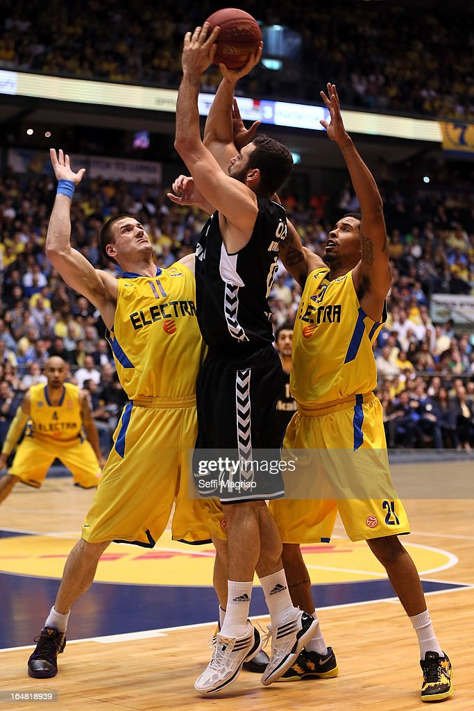 Cevher Ozer, #41 of Besiktas JK Istanbul in action during the 2012-2013 Turkish Airlines Euroleague Top 16 Date 13 between Maccabi Electra Tel Aviv v Besiktas JK Istanbul at Nokia Arena on March 28, 2013 in Tel Aviv, Israel.