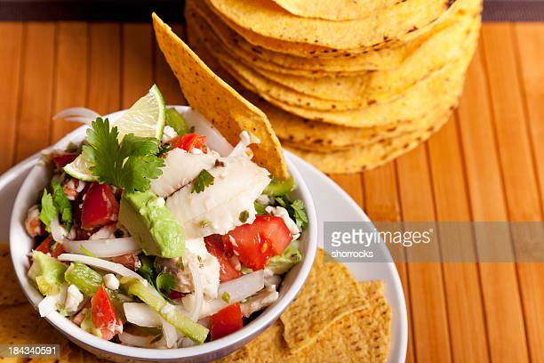 Ceviche with Tostadas