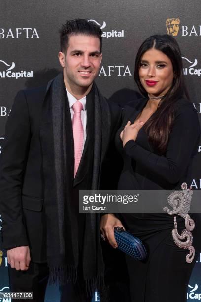 Cezc Fabrigas and Daniella Semaan attend the BAFTA 2017 film gala dinner on February 9 2017 in London United Kingdom
