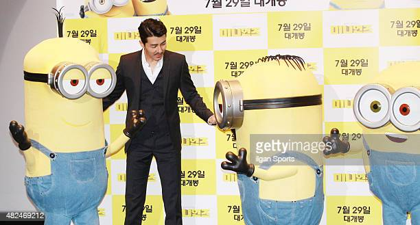 Cha SeungWon attends the movie 'Minions' premiere at CGV on July 23 2015 in Seoul South Korea