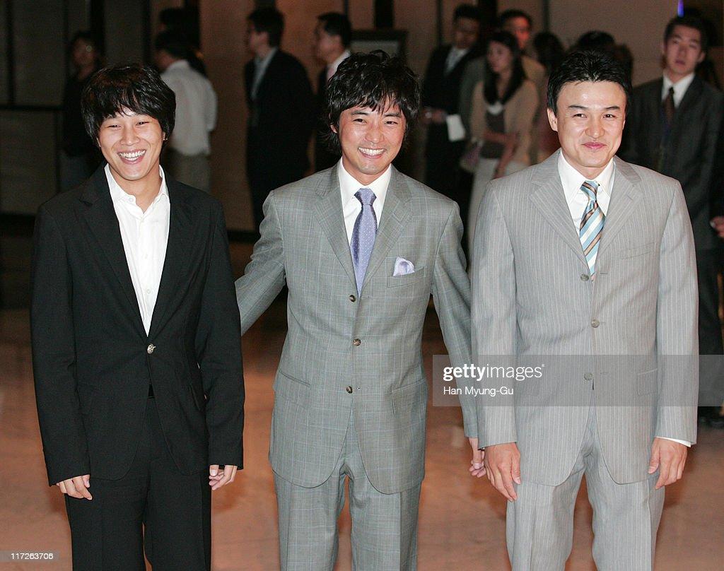 Cha Tae-Hyun and An Jae-Wook and Park Jung-Hun during Kim Seung-Woo and Kim Nam-Ju Wedding - May 25, 2005 at W Seoul Walkerhill Vister Hall in Seoul, South, South Korea.