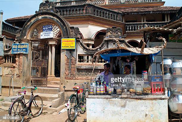A chaat and betel stand outside the gates of an abandoned mansion in Karaikudi in the Chettinad region of Tamil Nadu Numbering more than 60...
