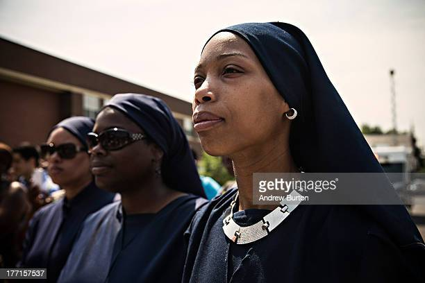 Chabree Muhammad director of University of Islam attends a press conference announcing a new superintendent of Camden School District on August 21...