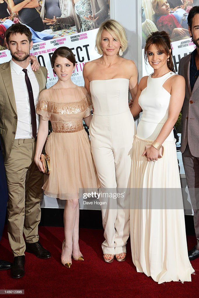 L-R <a gi-track='captionPersonalityLinkClicked' href=/galleries/search?phrase=Chace+Crawford&family=editorial&specificpeople=4238517 ng-click='$event.stopPropagation()'>Chace Crawford</a>, <a gi-track='captionPersonalityLinkClicked' href=/galleries/search?phrase=Anna+Kendrick&family=editorial&specificpeople=3244893 ng-click='$event.stopPropagation()'>Anna Kendrick</a>, <a gi-track='captionPersonalityLinkClicked' href=/galleries/search?phrase=Cameron+Diaz&family=editorial&specificpeople=201892 ng-click='$event.stopPropagation()'>Cameron Diaz</a> and Cheryl Cole attend the UK premiere of 'What To Expect When You're Expecting' at The BFI IMAX on May 22, 2012 in London, England.