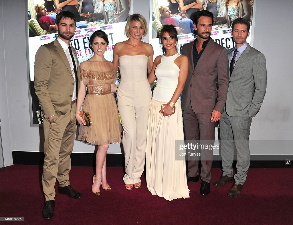Chace Crawford, Anna Kendrick, Cameron Diaz, Cheryl Cole, Rodrigo Santoro and Matthew Morrison attends the UK premiere of What To Expect When You're Expecting at BFI IMAX on May 22, 2012 in London, England.