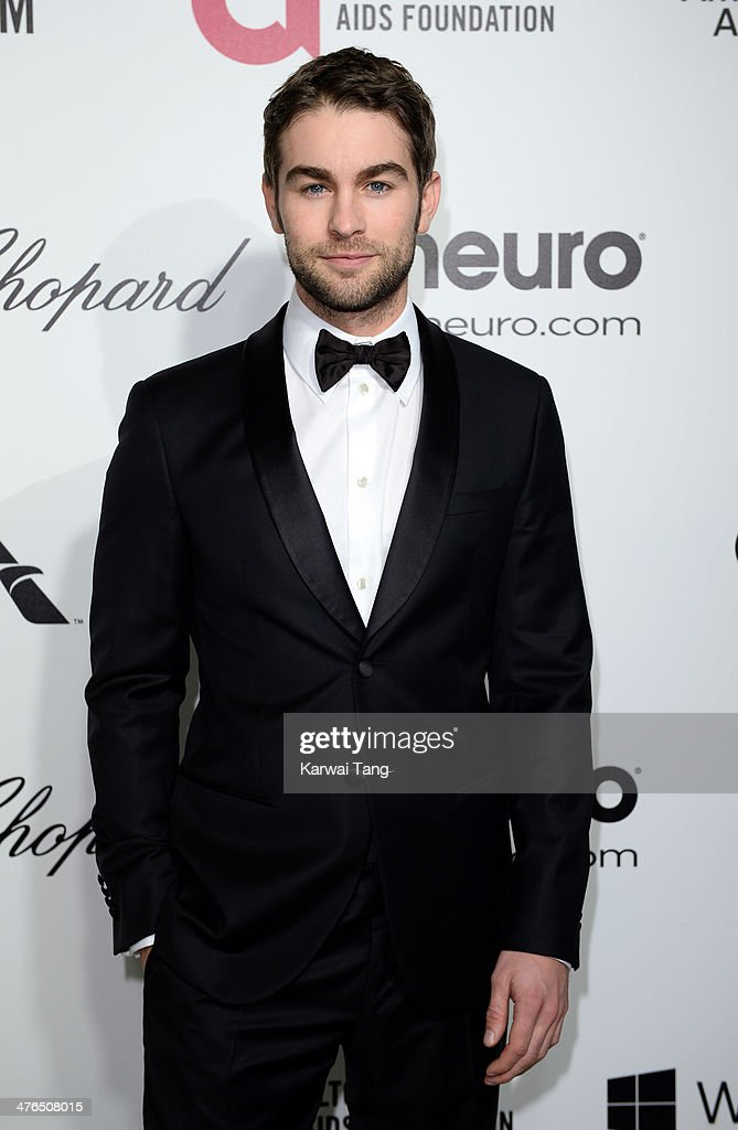 <a gi-track='captionPersonalityLinkClicked' href=/galleries/search?phrase=Chace+Crawford&family=editorial&specificpeople=4238517 ng-click='$event.stopPropagation()'>Chace Crawford</a> arrives for the 22nd Annual Elton John AIDS Foundation's Oscar Viewing Party held at West Hollywood Park on March 2, 2014 in West Hollywood, California.