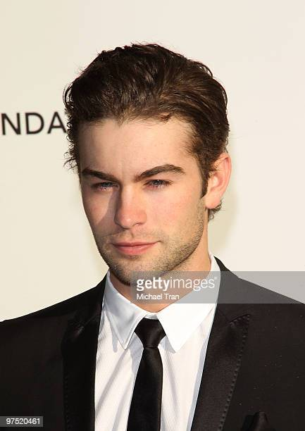 Chace Crawford arrives to the 18th Annual Elton John AIDS Foundation Academy Awards Viewing Party held at Pacific Design Center on March 7 2010 in...