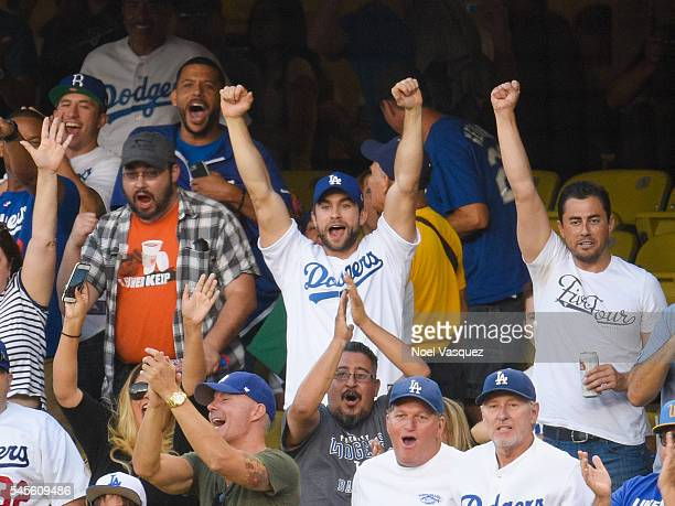 Chace Crawford attends a baseball game between the San Diego Padres and the Los Angeles Dodgers at Dodger Stadium on July 8 2016 in Los Angeles...