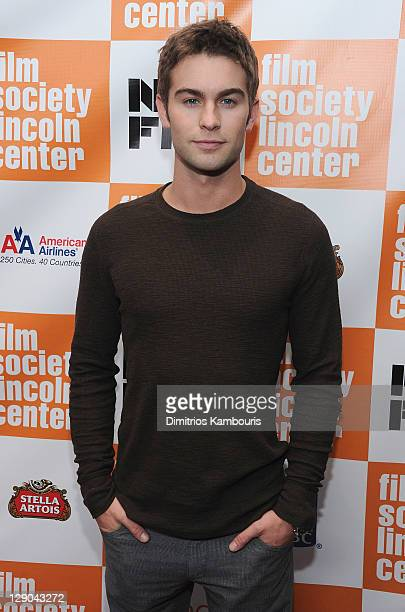 Chace Crawford attends the 49th annual New York Film Festival presentation of 'Martha Marcy May Marlene' at Alice Tully Hall Lincoln Center on...