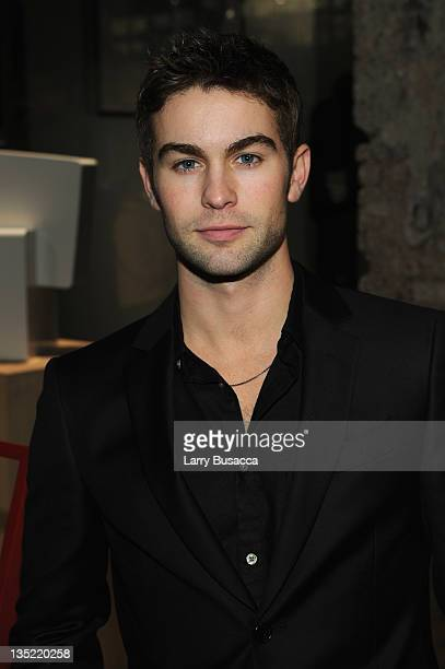 Chace Crawford attends the party to celebrate the launch of the 'GQ at PARK BOND' holiday popup shop on December 7 2011 in New York City