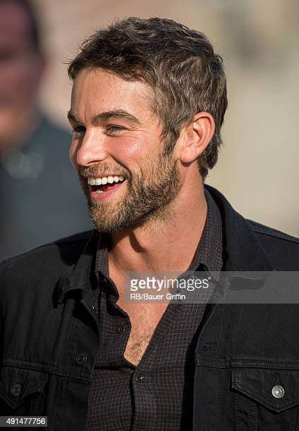 Chace Crawford is seen at 'Jimmy Kimmel Live' on October 05 2015 in Los Angeles California