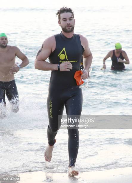 Chace Crawford is seen at the Life Time Triathalon on April 2 2017 in Miami Beach Florida