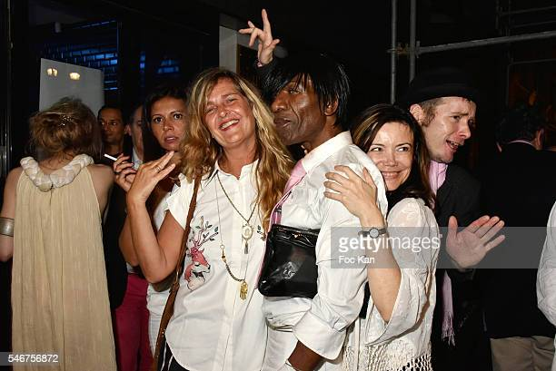 Chacha Meissner Geraldine Beigbeder PR Dexter Dex Tao singer Marina Celeste and musician Bogdan Terry attend the Dexter Dex Tao Birthday Party at the...