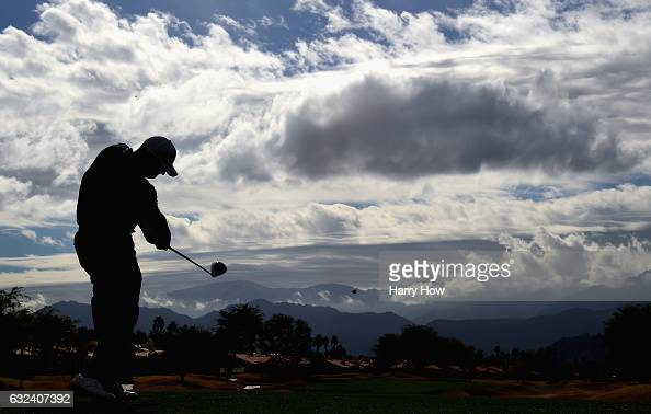 Chad Campbell plays his shot from the eighth tee during the final round of the CareerBuilder Challenge in partnership with The Clinton Foundation at...