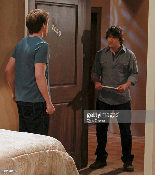 HOSPITAL Chad Duell and Dominic Zamprogna in a scene that airs the week of April 19 2010 on ABC Daytime's 'General Hospital' 'General Hospital' airs...