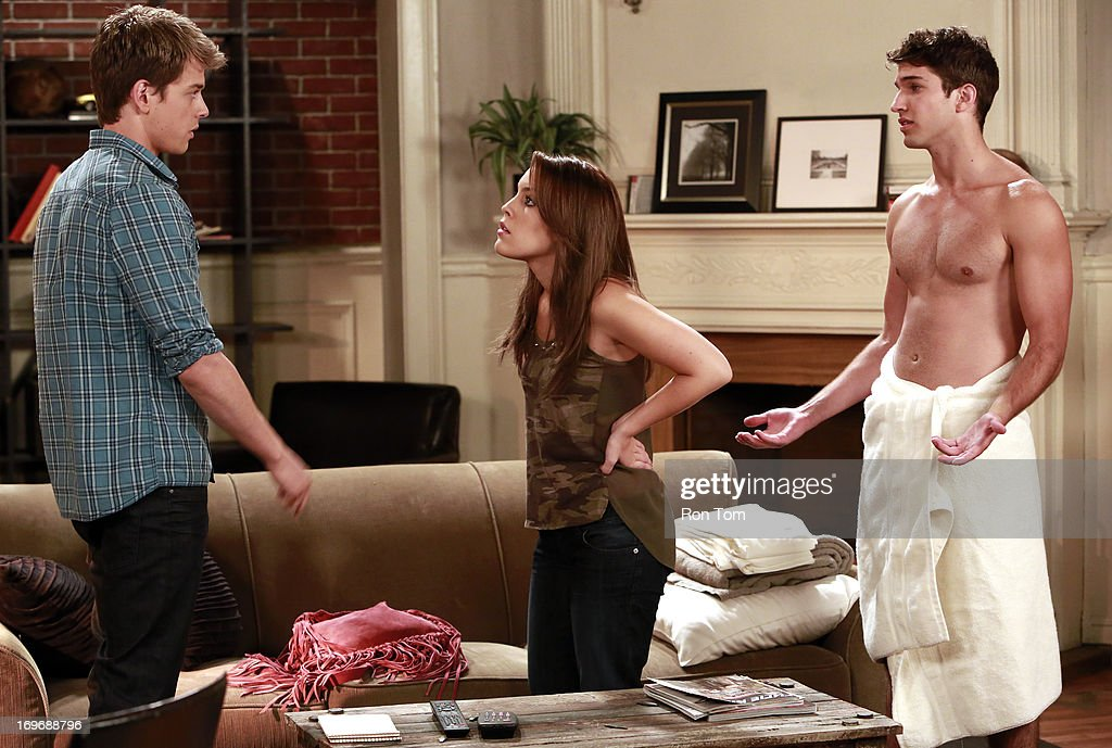 HOSPITAL - Chad Duell (Michael), Kristen Alderson (Lauren Frank) and Bryan Craig (Morgan) in a scene that airs the week of May 27, 2013 on ABC's 'General Hospital.' 'General Hospital' airs Monday-Friday (2:00 p.m. - 3:00 p.m., ET) on the ABC Television Network. GH13 (Photo by Ron Tom/ABC via Getty Images) CHAD
