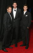 Chad Fletcher Dean Cox and Tyson Stenglein of the West Coast Eagles arrive for the West Coast Eagles 2006 AFL Brownlow Medal Dinner at the Burswood...