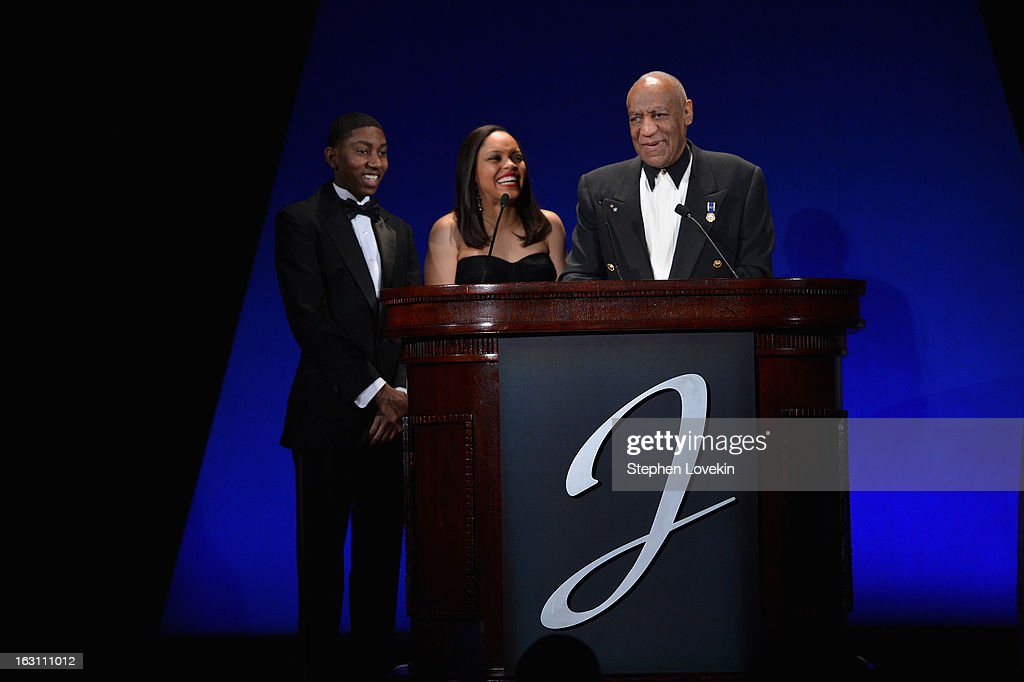 Chad Foster, Danielle Pingue and Dr. Billy Cosby emcee The Jackie Robinson Foundation Annual Awards' Dinner at the Waldorf Astoria Hotel on March 4, 2013 in New York City.