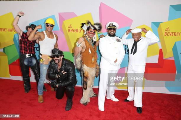 Chad Freeman James Kwong JJ Lippold Angel Morales Victor Willis Sonny Earl of Village People at the 2017 Streamy Awards at The Beverly Hilton Hotel...