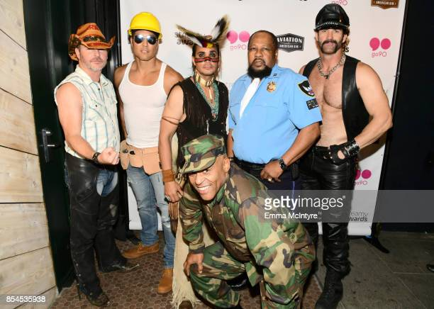 Chad Freeman James Kwong JJ Lippold Victor Willis Angel Morales and Sonny Earl of Village People at go90 Streamys After Party at Poppy on September...